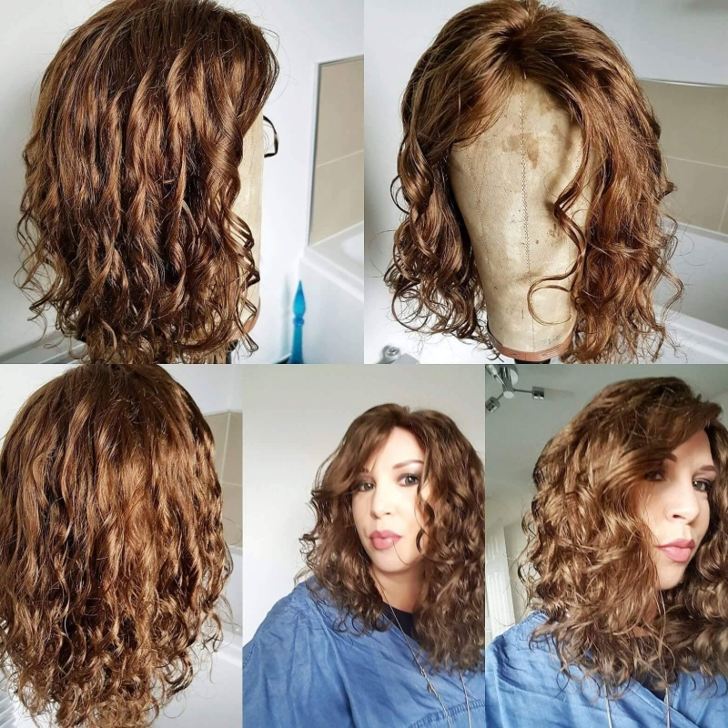 Naturally curly European hair wig
