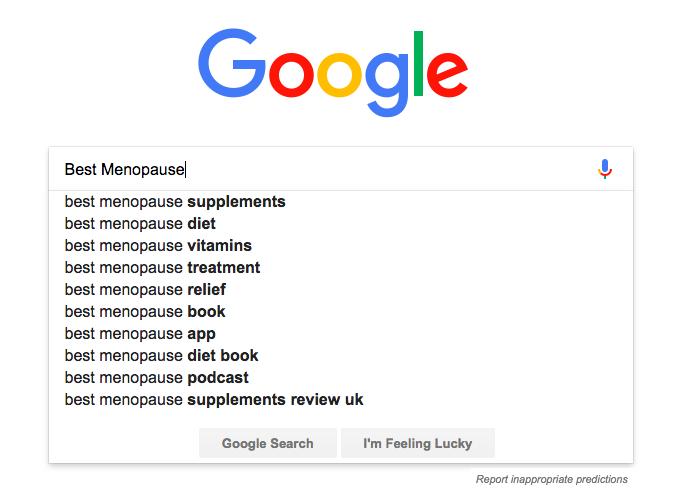 menopause google