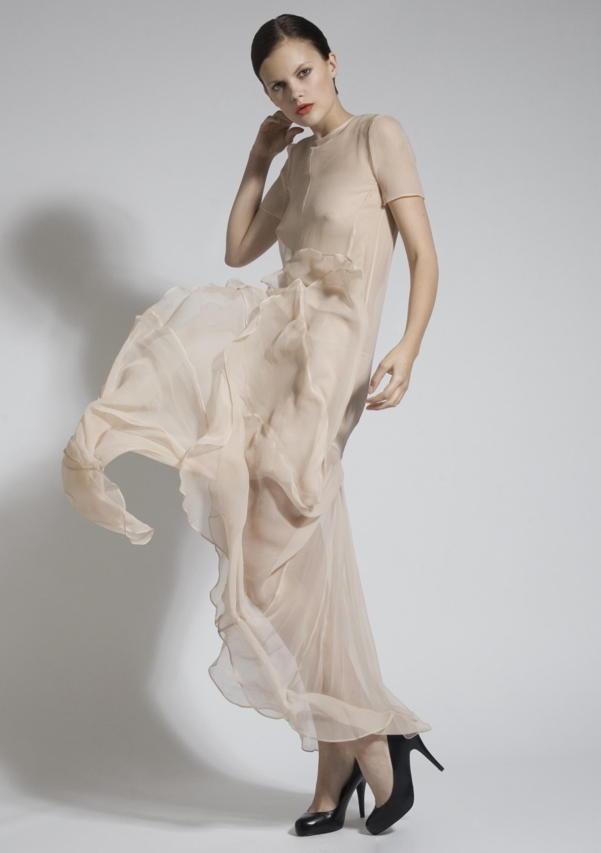9a Nude Chiffon Pleat Dress.jpg