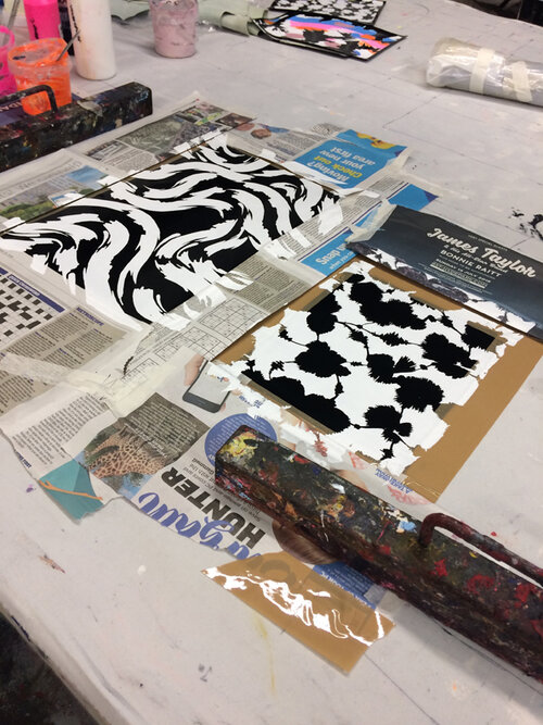 screenprint studio process handmade