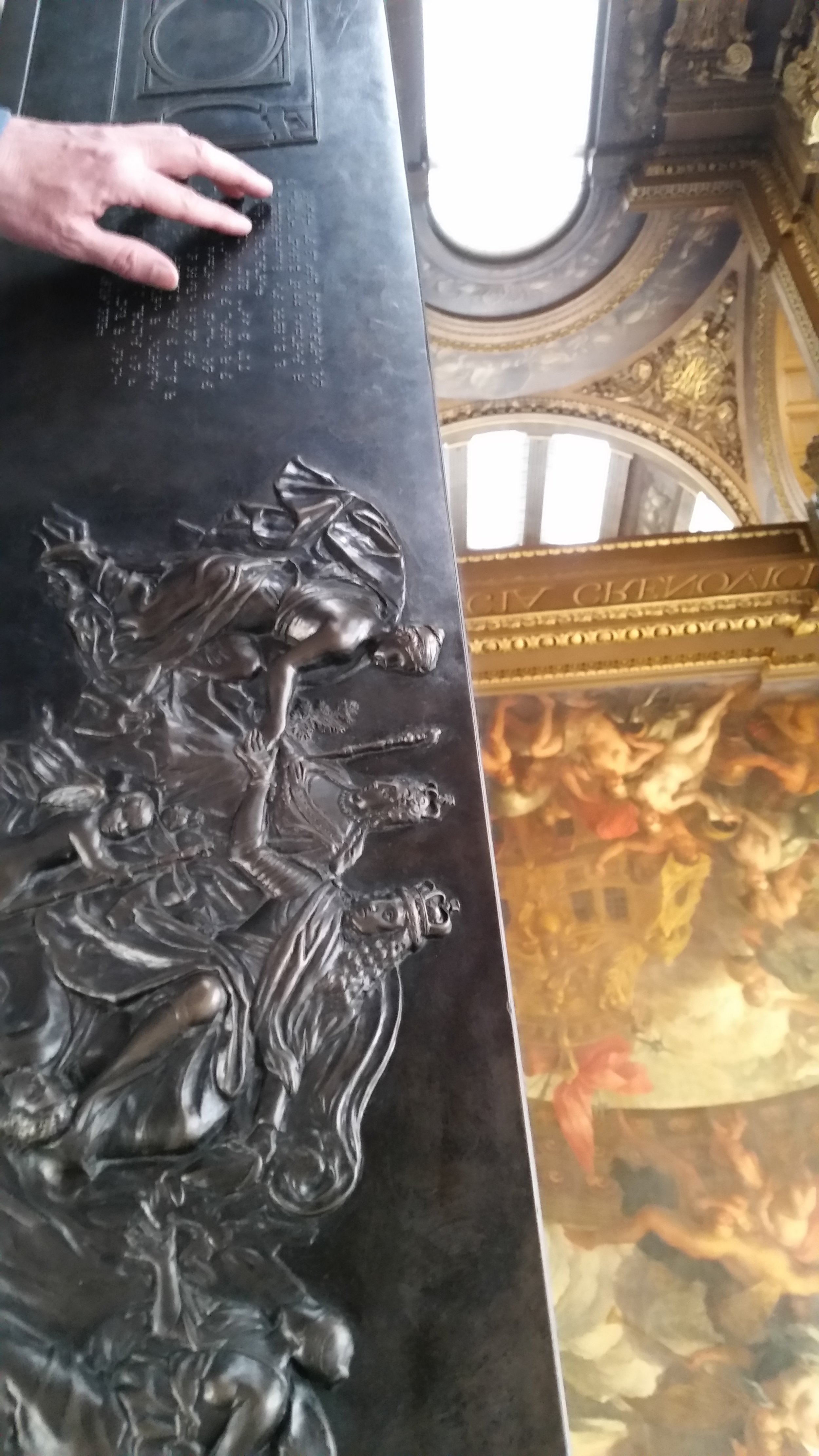Tactile panel, Painted Hall