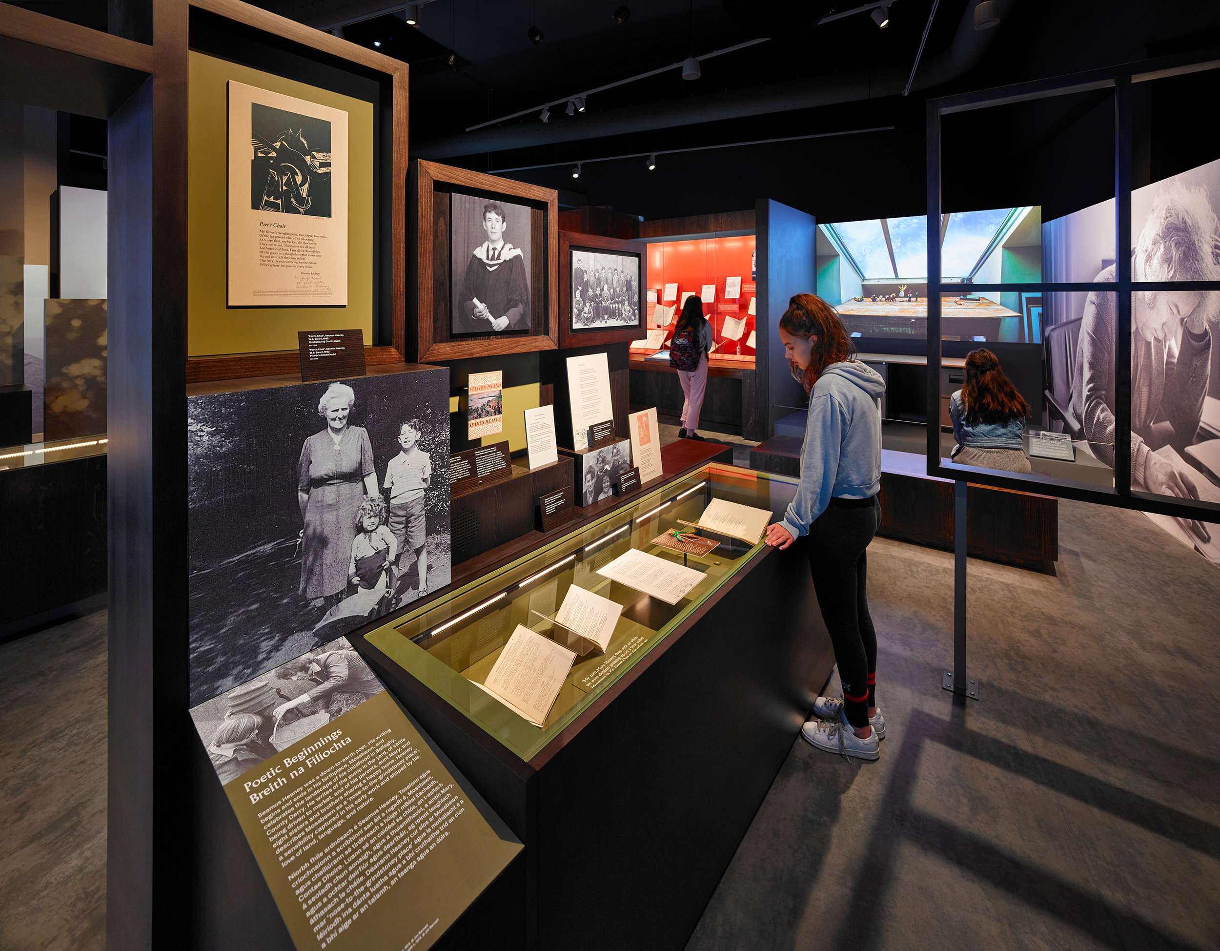 Listen Now Again, Seamus Heaney exhibition for the National Library of Ireland