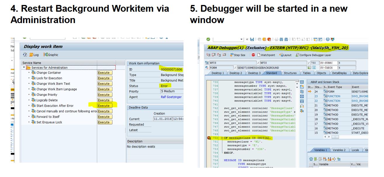 Debugging-mode for workflow background tasks - 2