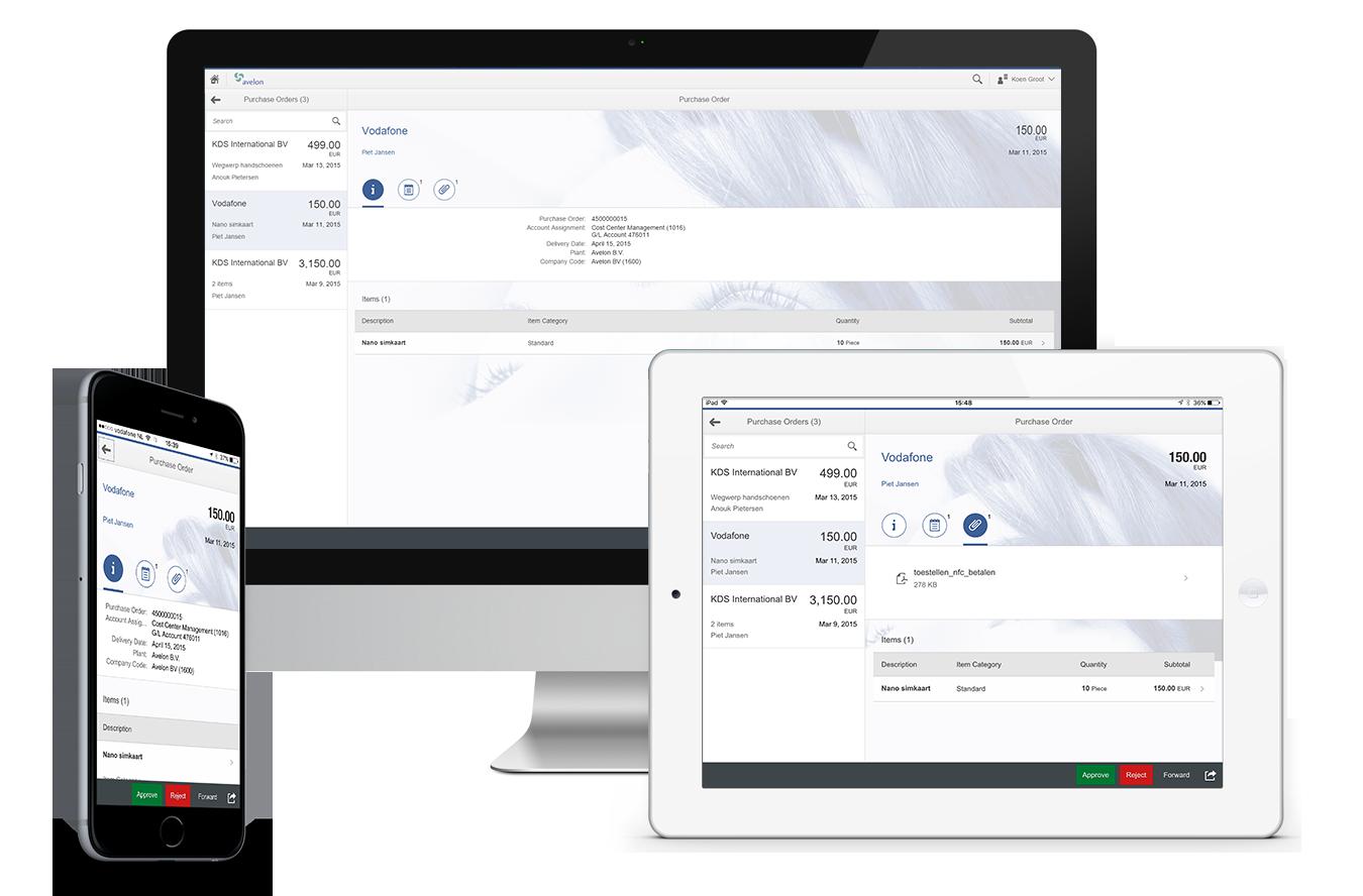 SAP FIori PO approval app