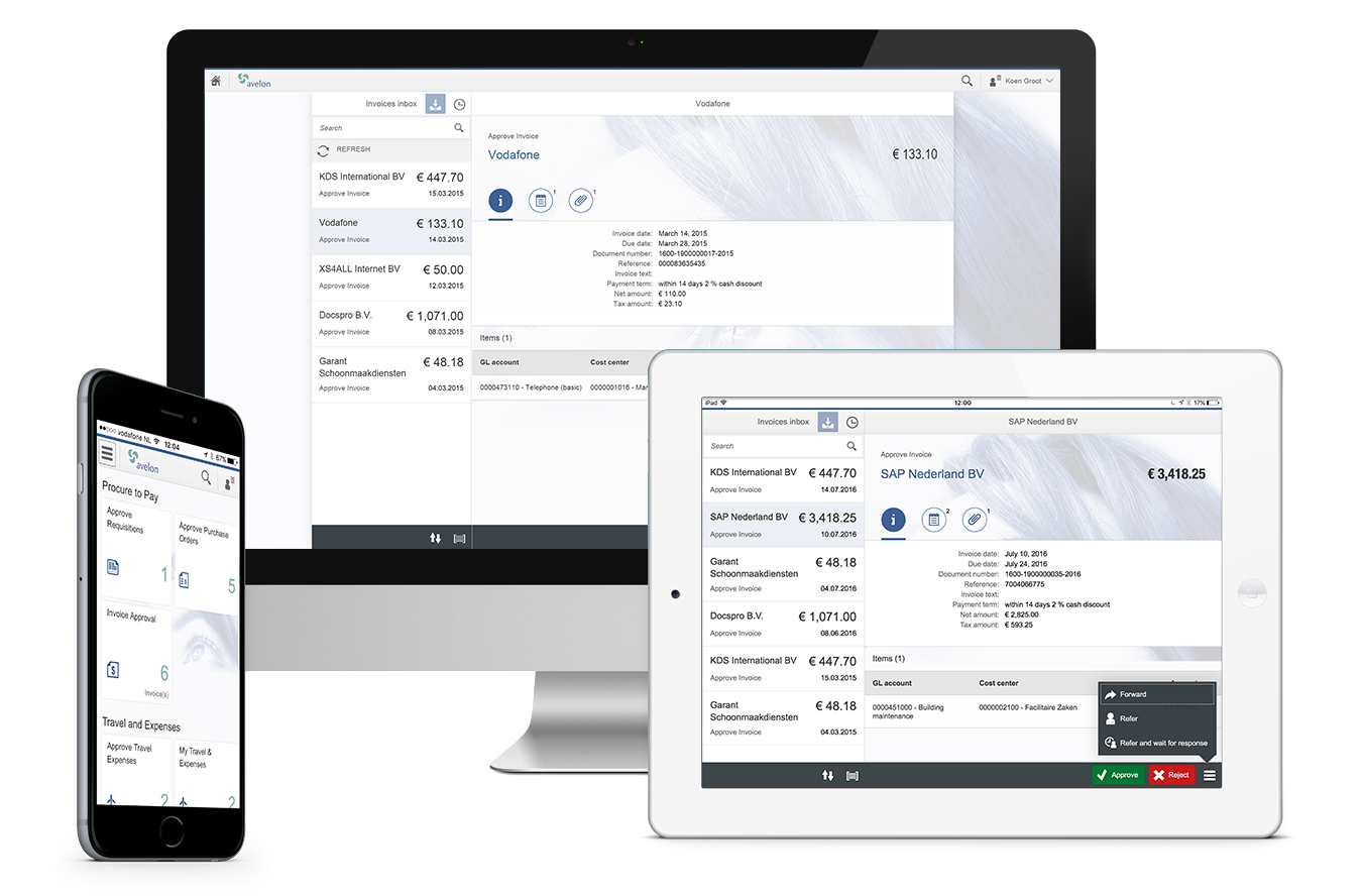 Avelon Fiori Invoice Approval app