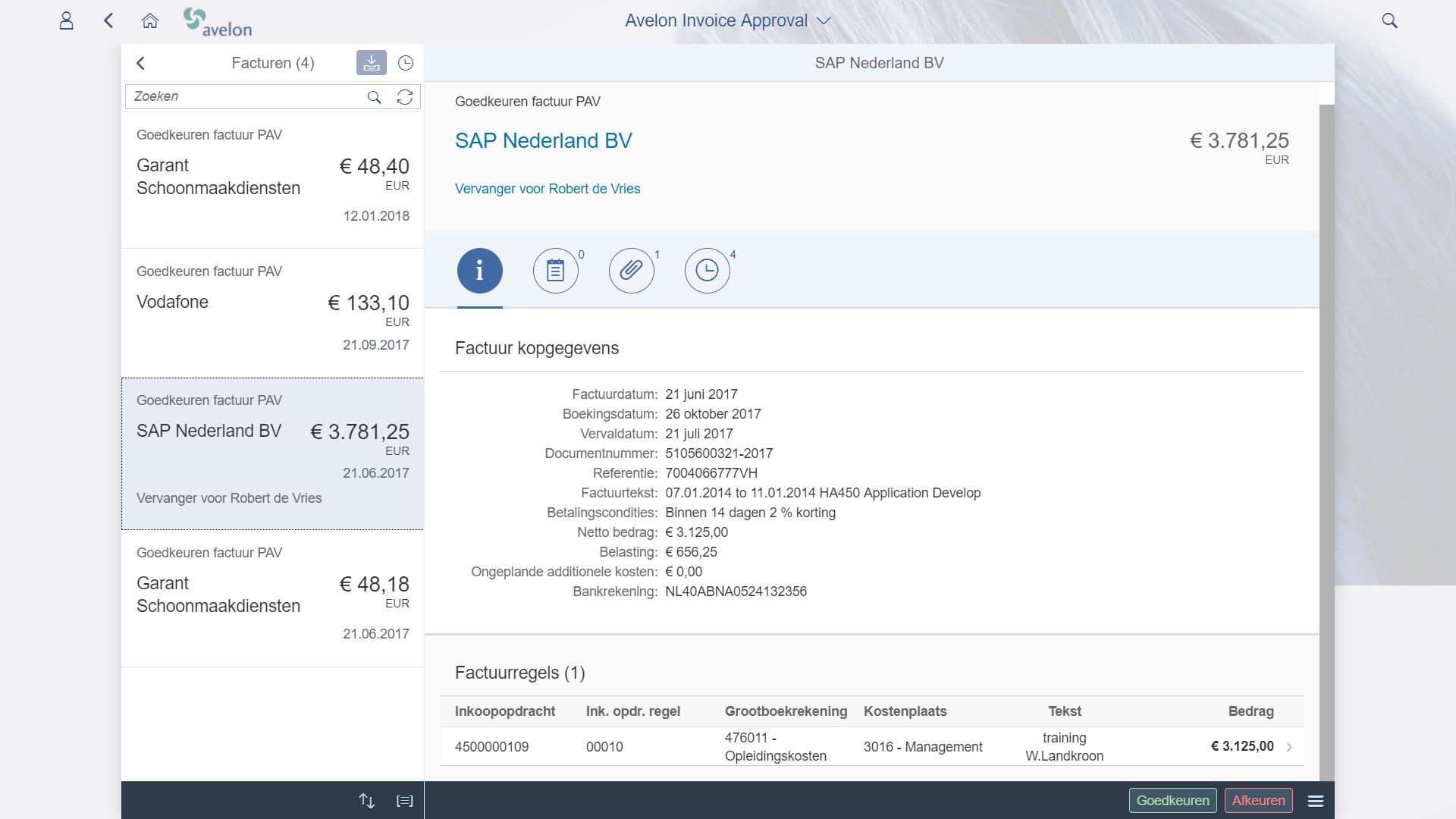 SAP Fiori goedkeuren facturen