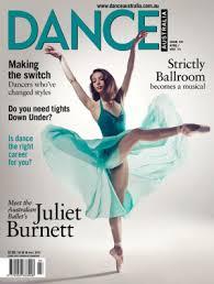 Juliet Burnett on cover of Dance Australia 2014