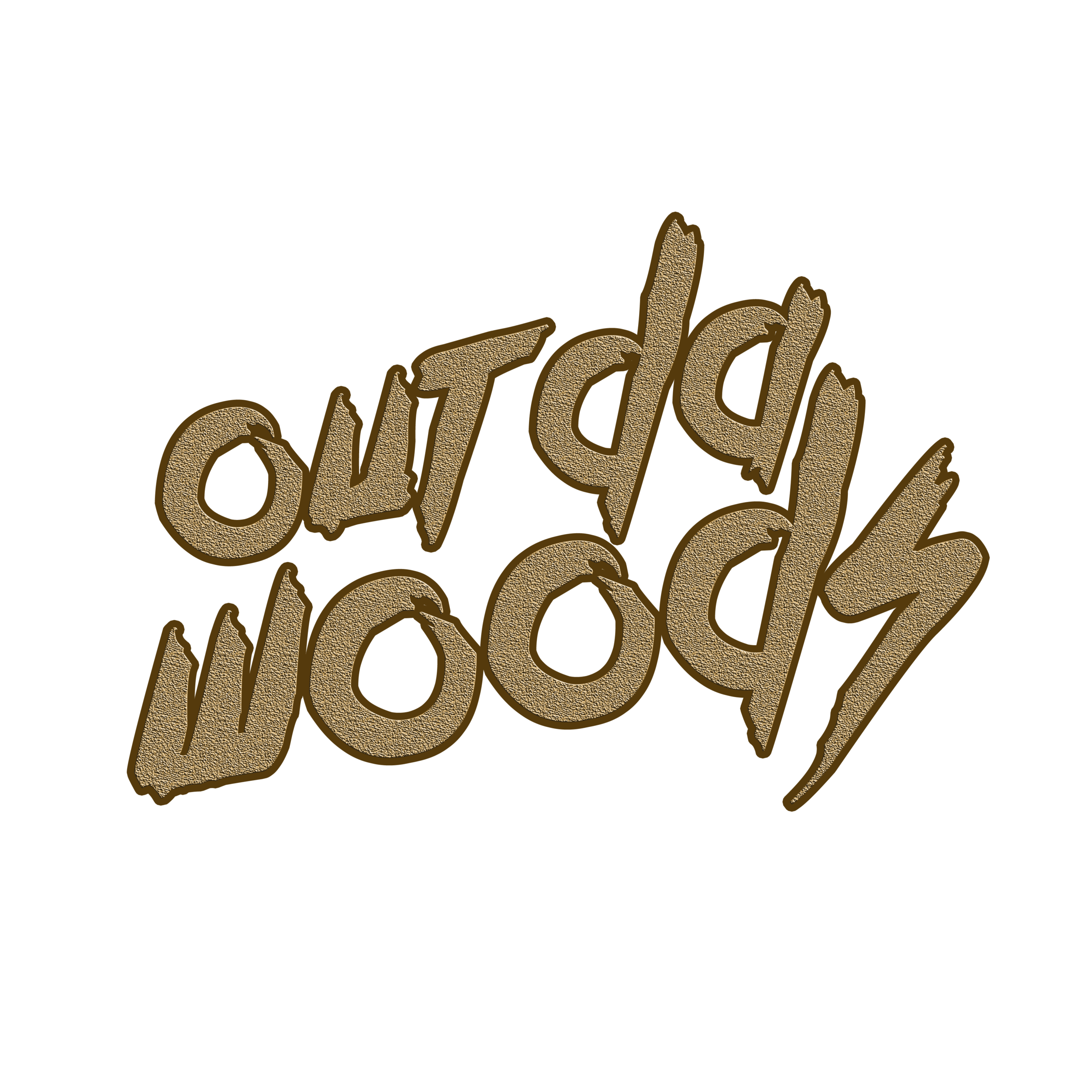 Out da woods - Logo for business entrepreneur Leslie Smith. He started an online thrift & consignment boutique called Out Da Woods. This is a freestyle design that was collaborated on with the client.