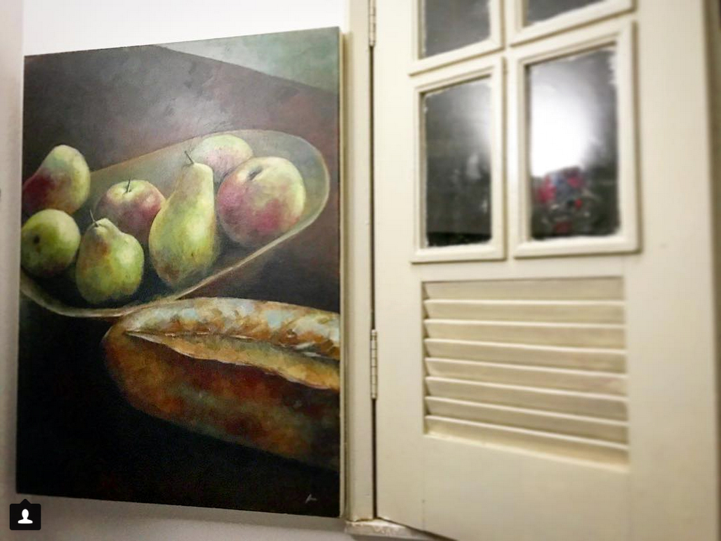 The painting hanging on the buyer`s wall.