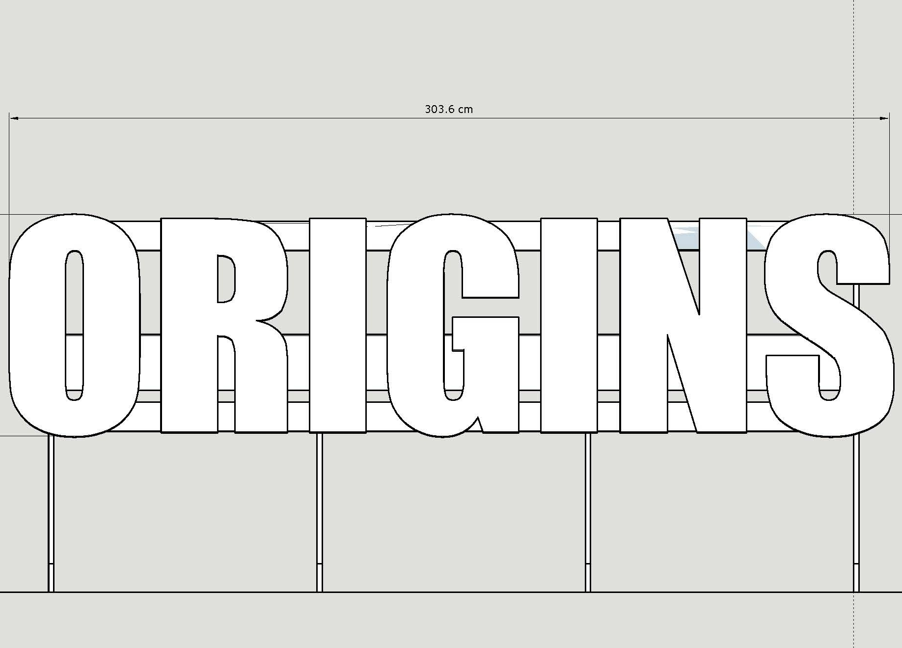 origins SIGNAGE - Light and innovative flat pack stand for UAL Origins Creative Arts Festival