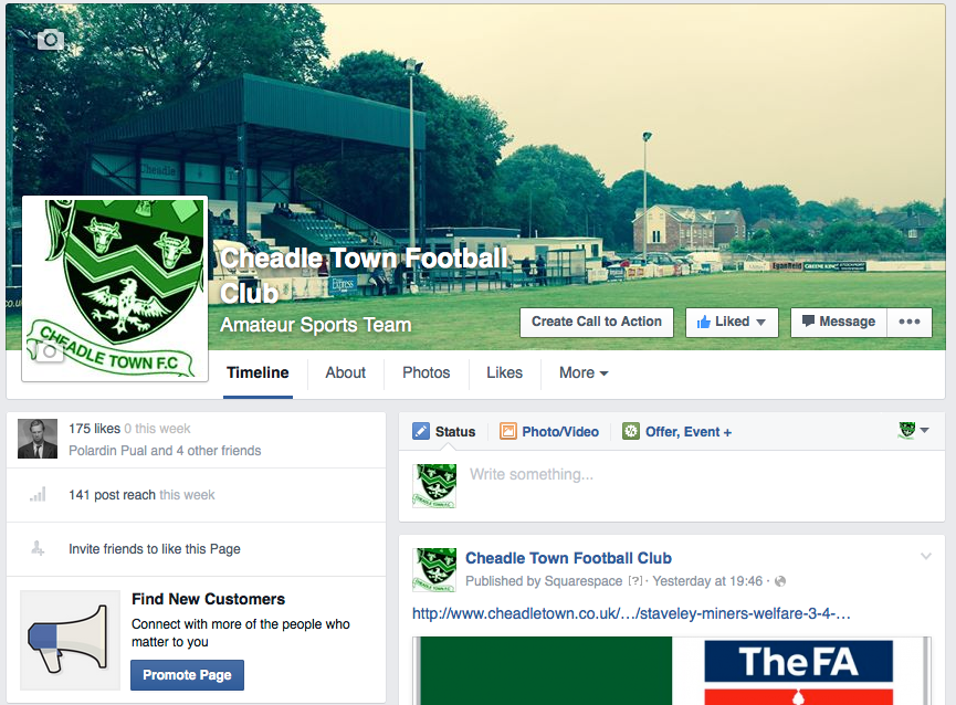 Our Facebook page - growing stronger