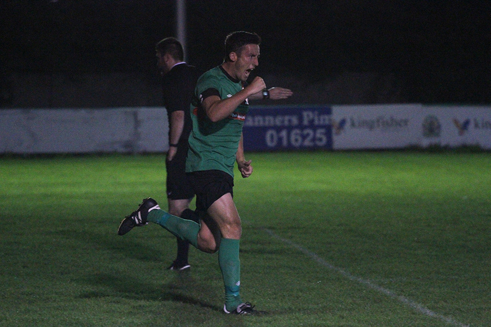Anthony Trucca wheels away in delight after putting us 2-1 up