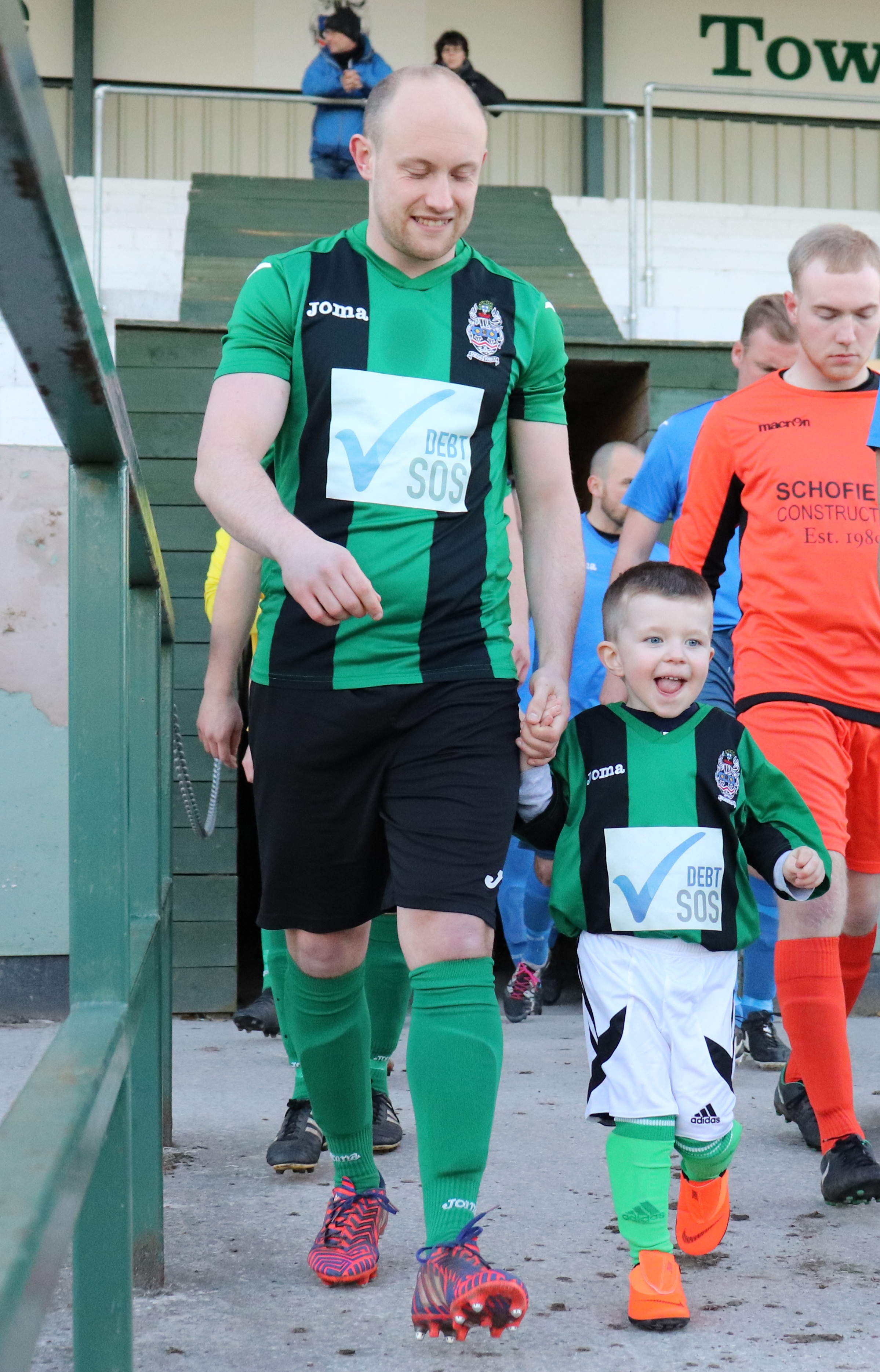 Big smiles from our match mascot Freddie
