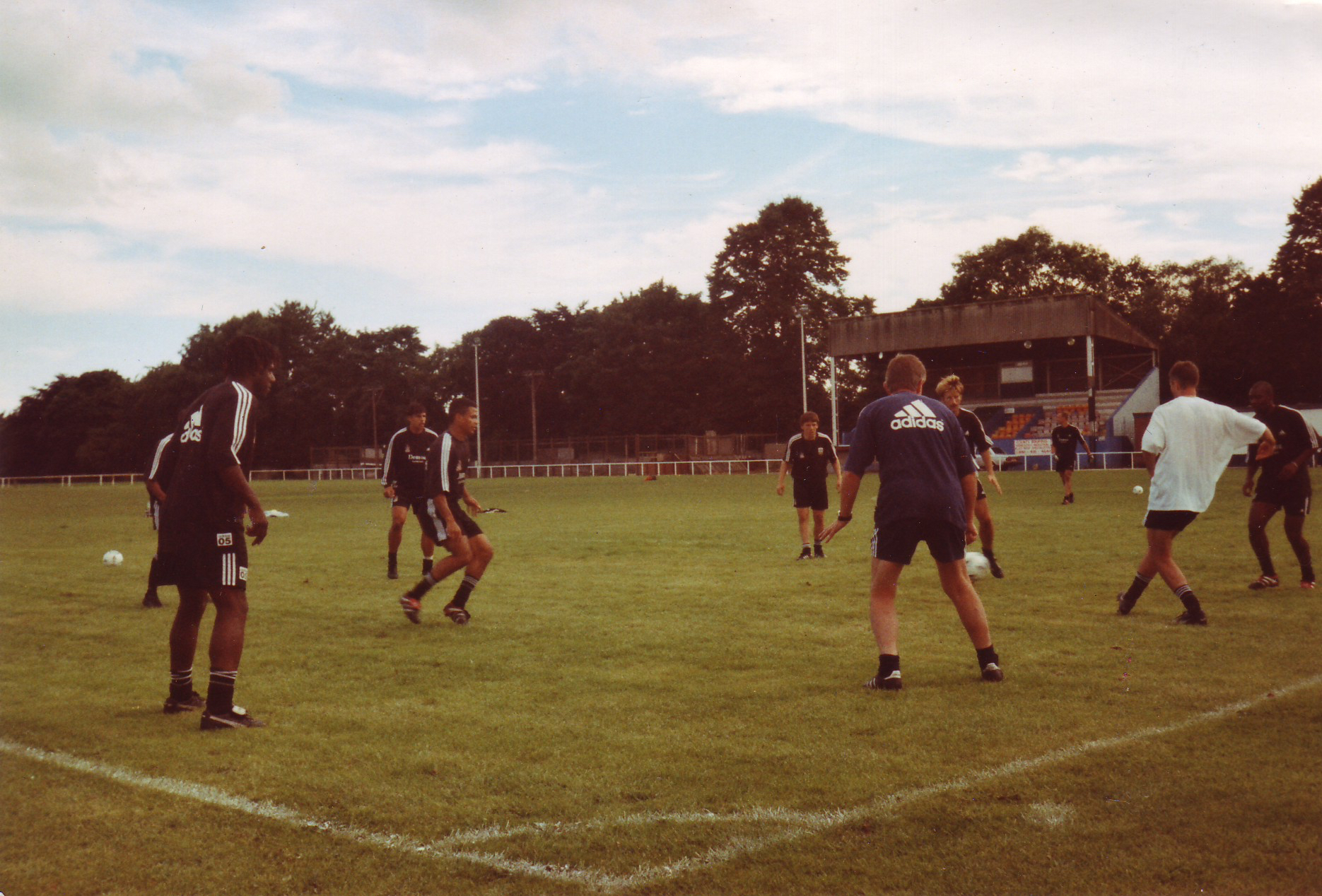 Fulham FC training at Park Road during the 1998-99 season.