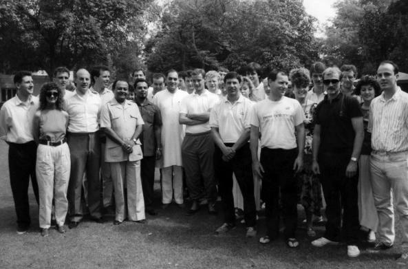 The squad meet Rajiv Ghandi
