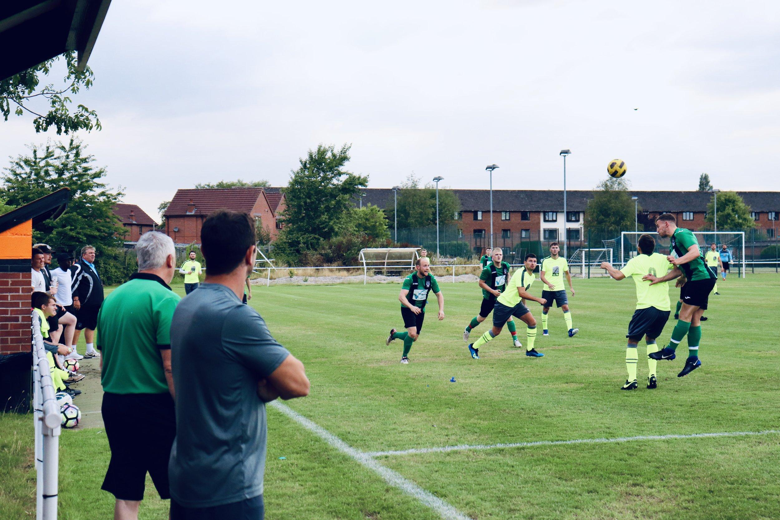 The coaching staff providing watching eyes