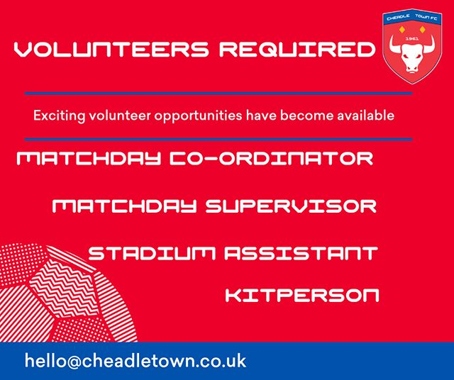 Do you have some spare time? Want to do some good? Love football?  We would love to welcome new individuals who are keen to join our volunteer scheme. Please get in touch!
