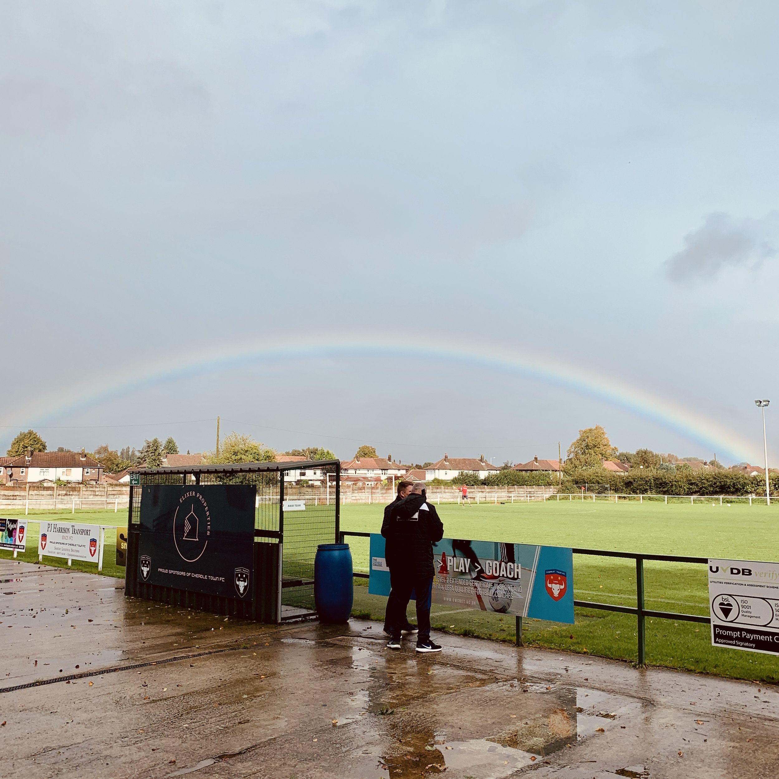 Three points at the foot of this particular rainbow