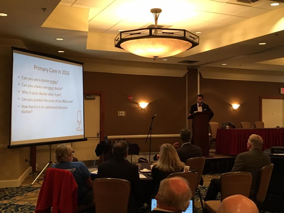 Dr. Rohal speaking at the FMMA in Harrisburg last Friday.