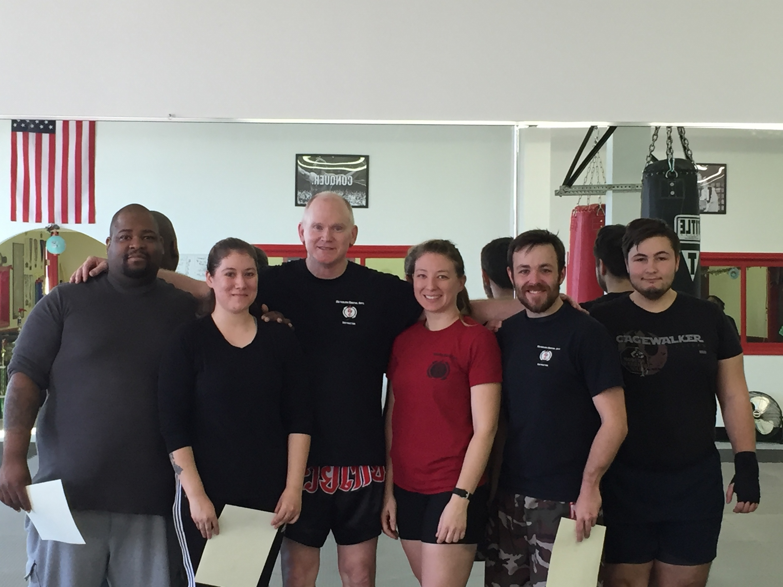 Kola, Brittney, Coach Bill, Erin, Ed, and matt