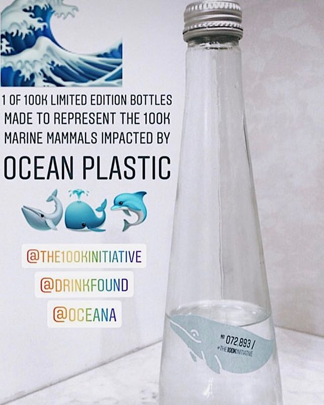 Bottle number 072 893 found by @merylpritchard in LA 💙🐋 . This is 1 of 100k bottles of @drinkfound representing the 100k marine mammals impacted by ocean plastic. . Raise a glass to raise awareness & funds. 100% of profits from each bottle go to @Oceana to help limit plastic pollution. . To Get your bottles & Take part in #the100kinitiative visit www.the100kinitaitive.org  #breakfreefromplastic #worldoceansday #worldoceansmonth