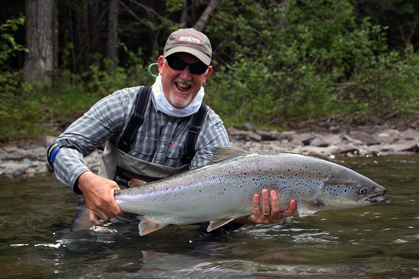 Congratulations Tosh on catching your first Atlantic salmon!