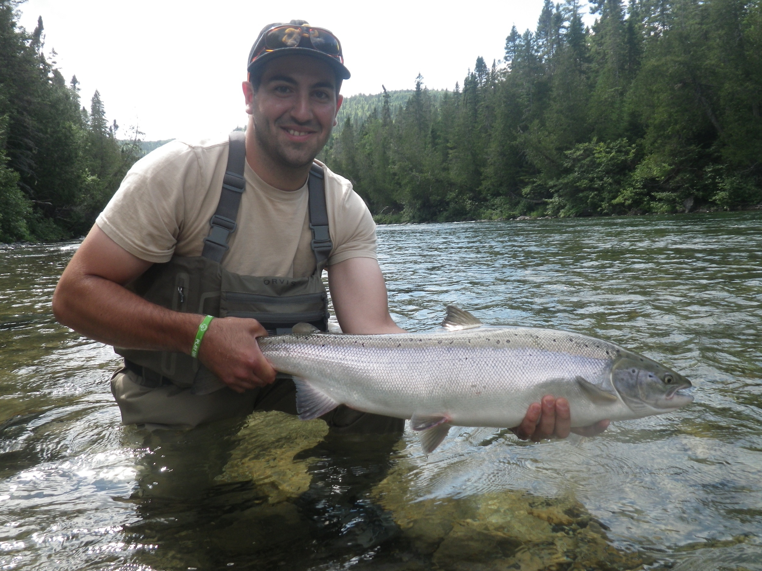 Jake Porcello with his first Atlantic Salmon salmon, great fish Jake!
