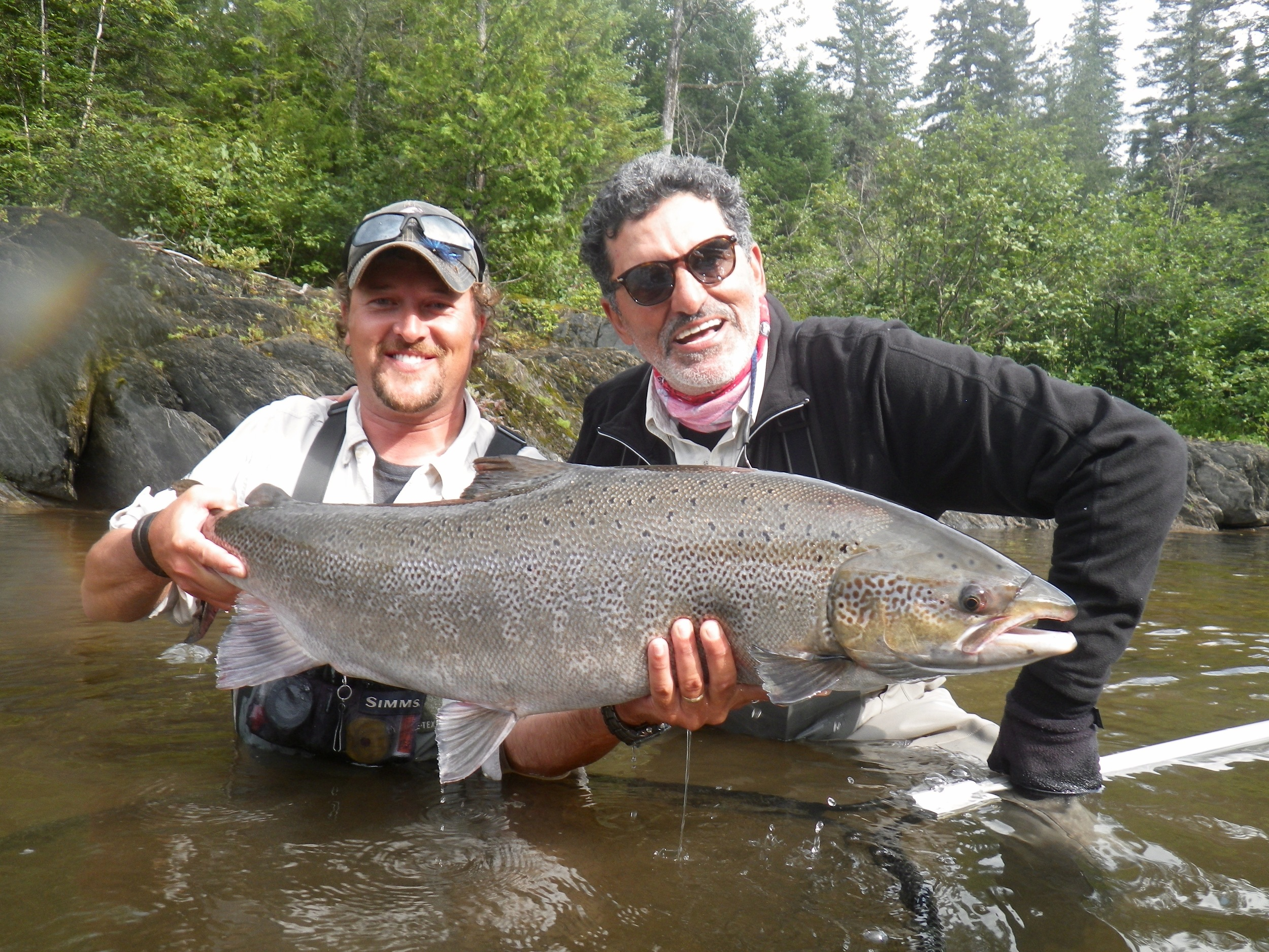 Francis Dhobb came all the way from Spain to catch his first Atlantic salmon, Congratulations Francis, see you next year, twice!