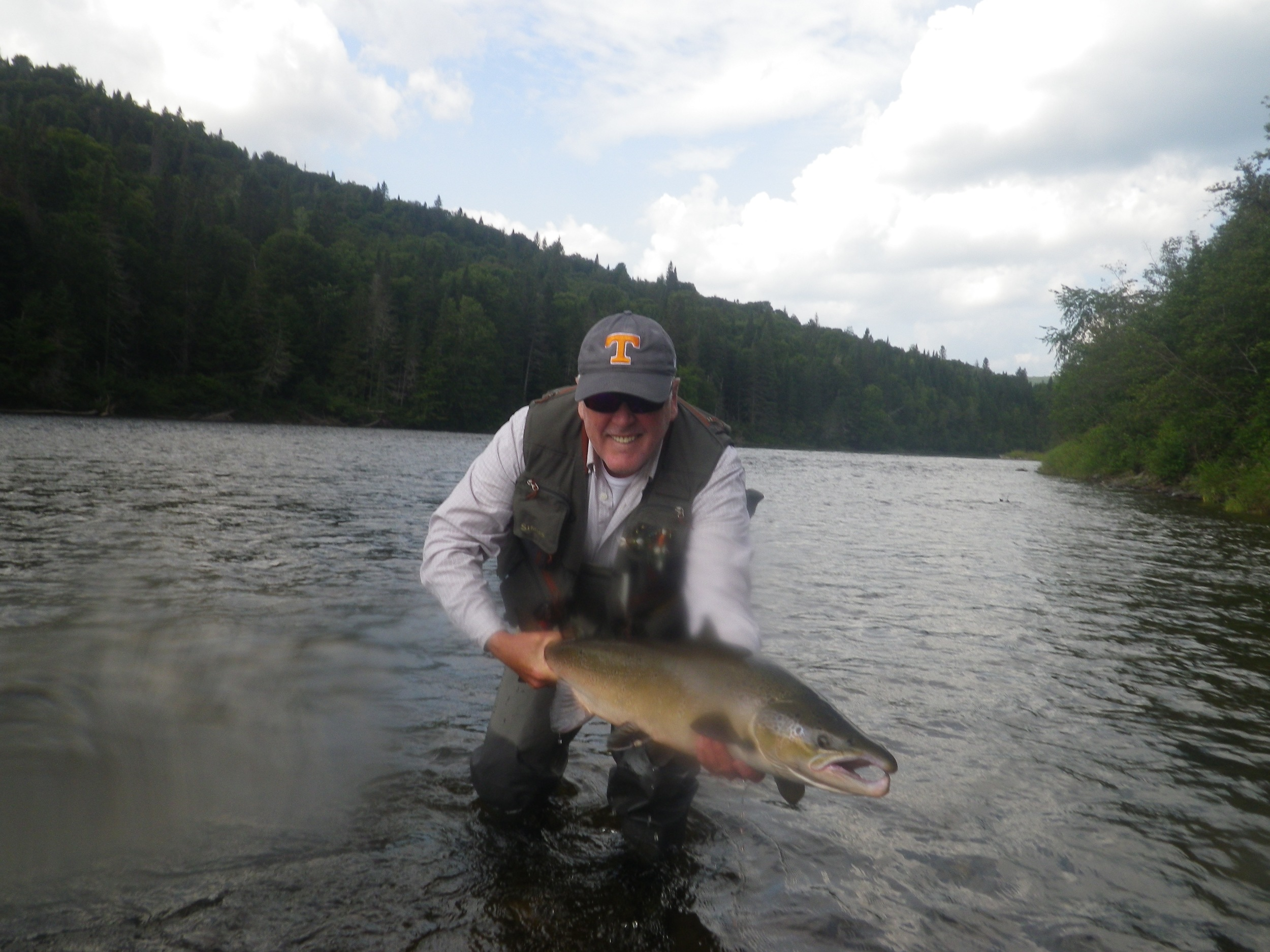 Nova Scotian Jim Dickson with his first  Grand Cascapedia salmon  of the season, nice one Jim!