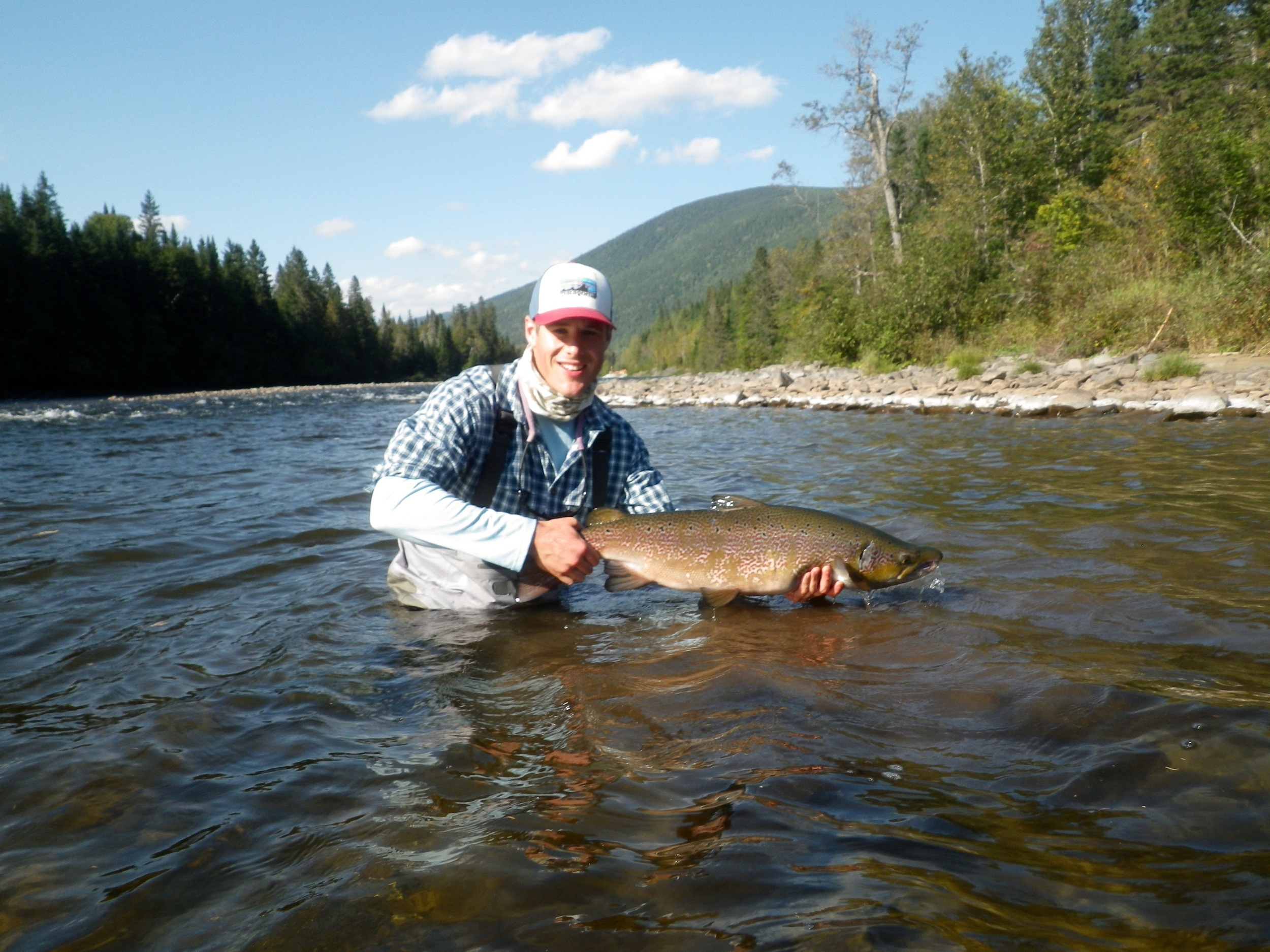 Michael Blades with his first Grand Cascapedia Salmon of 2015, Nice one Michael!