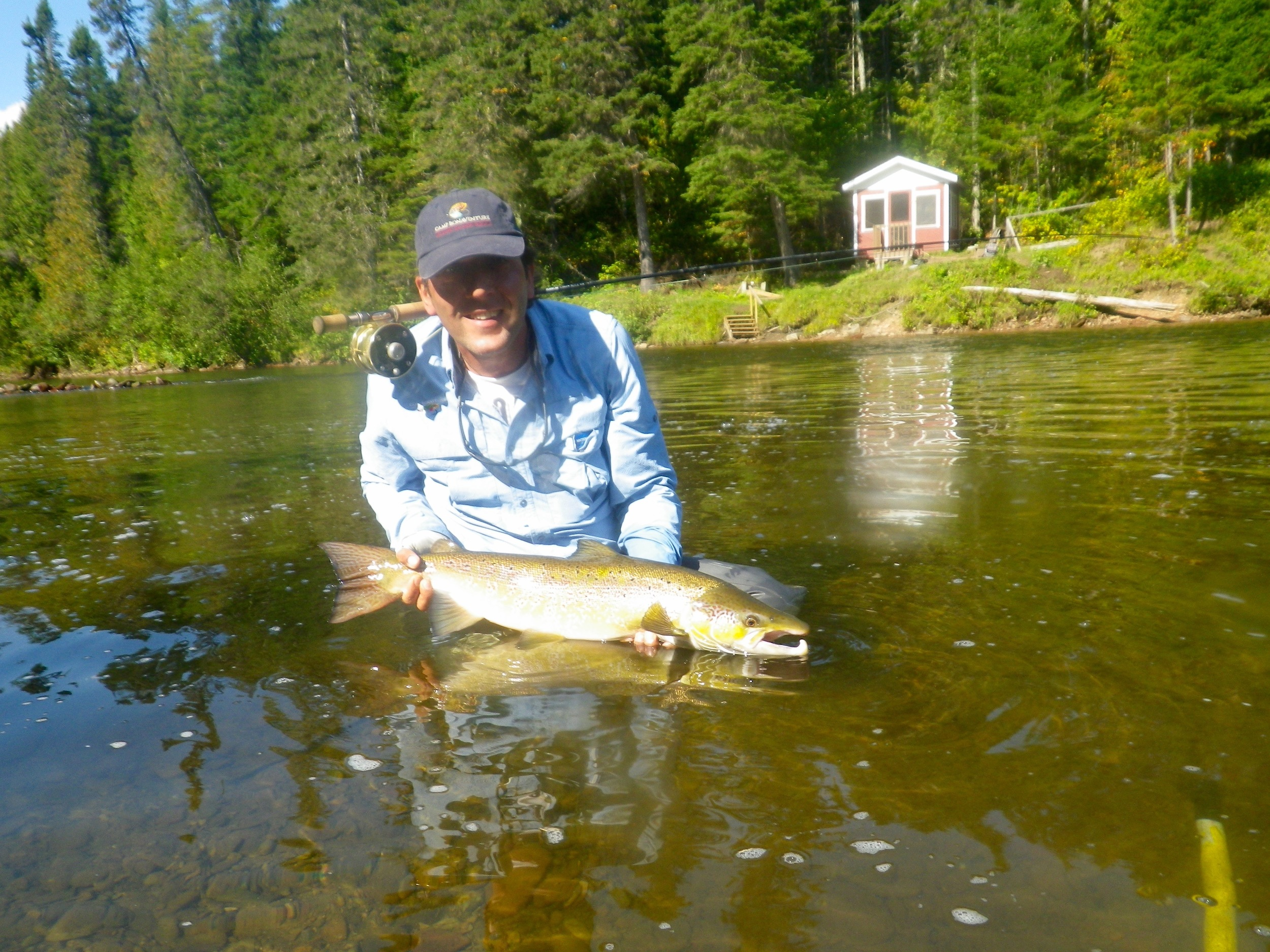 Claude Lombardo with a nice on on the Grand Cascapedia, nice salmon Claude!