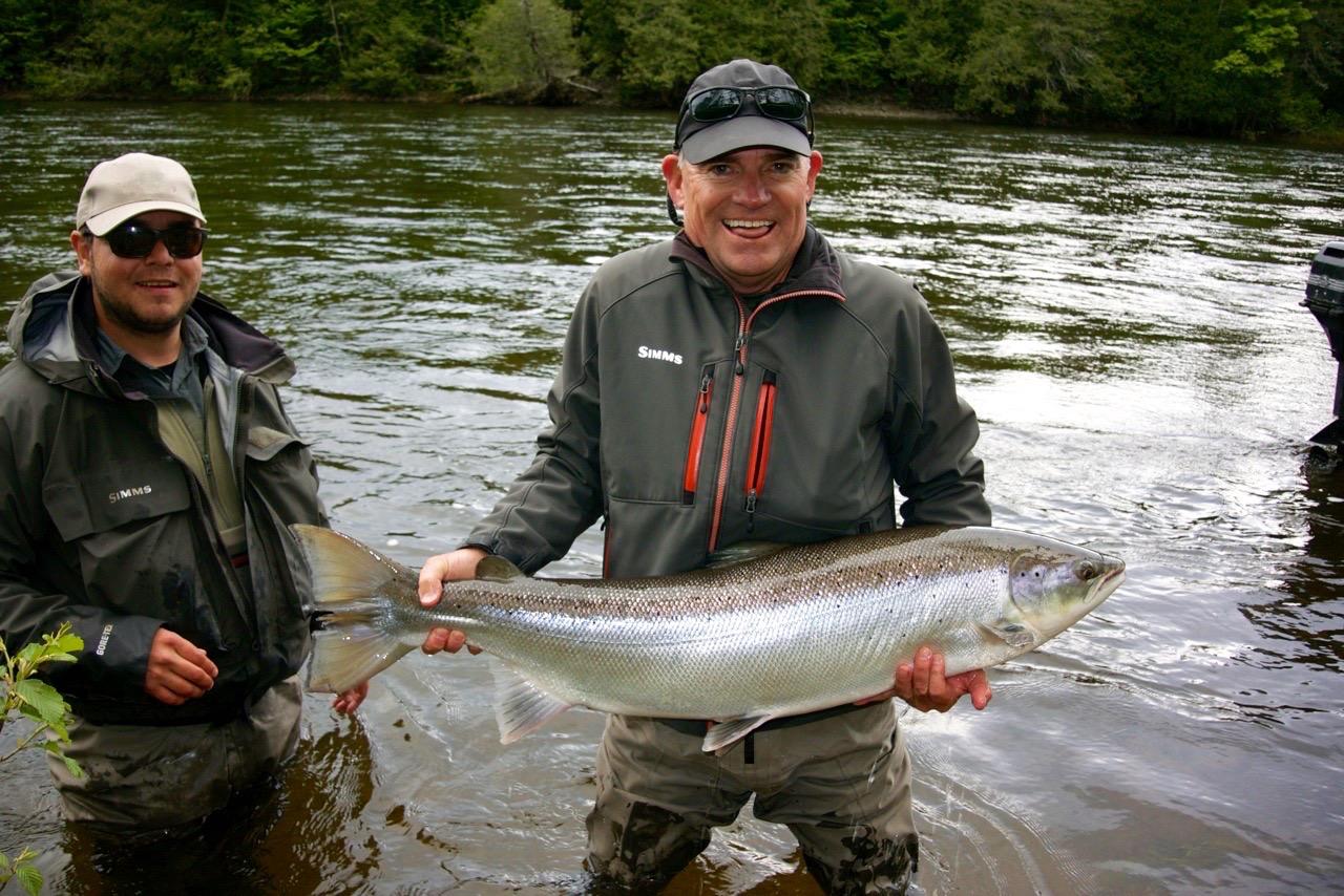 David Roberts with his first Atlantic Salmon, Congratulations David!