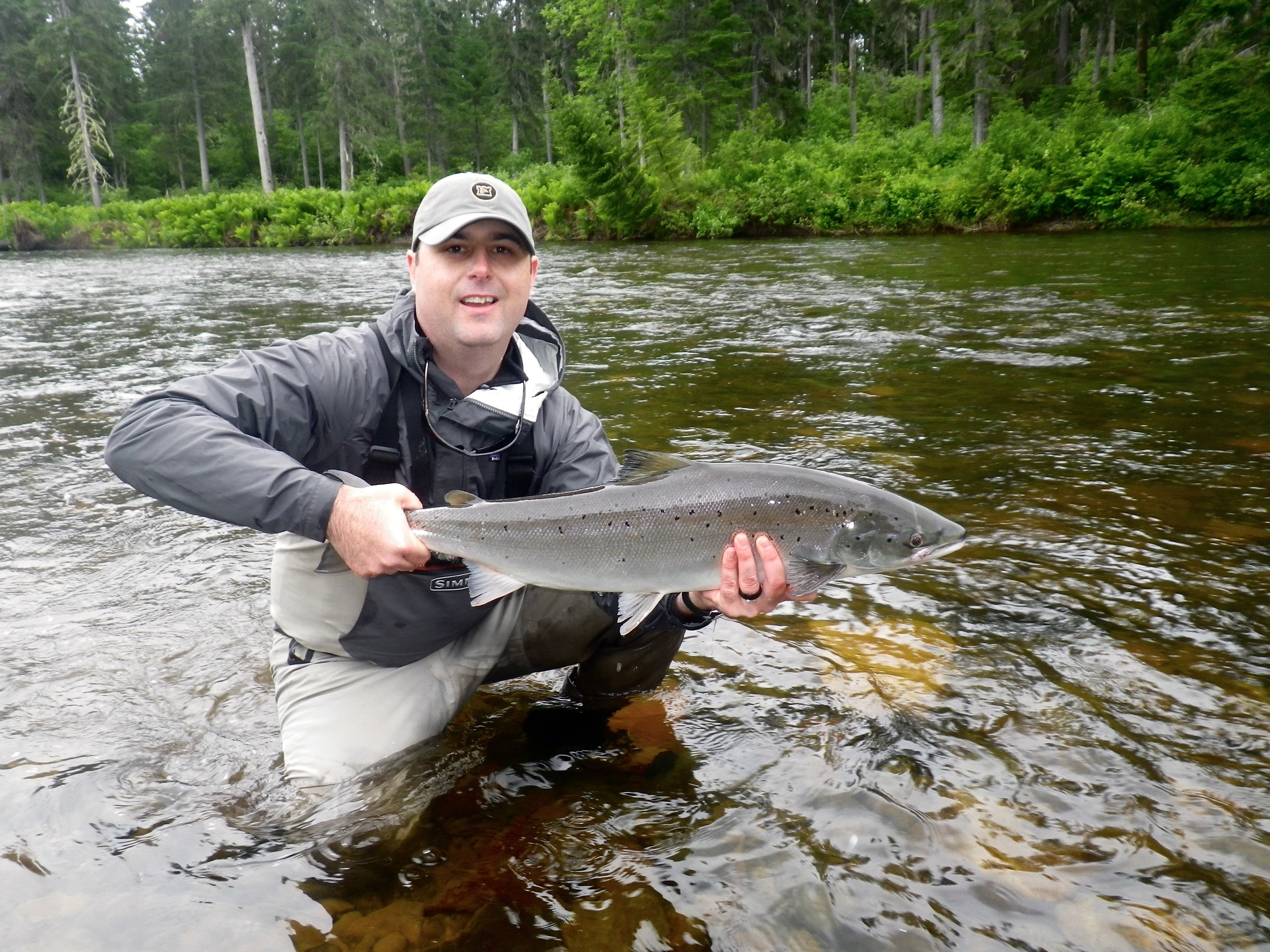 Will Doyle landed this fine salmon on the Grand Cascapedia, nice one Will!