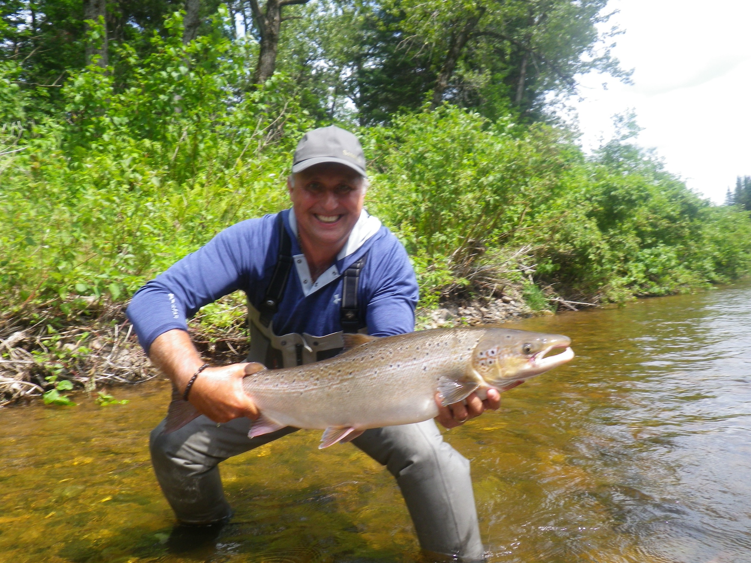 Luc Chabot with a nice on from the Grand Cascapedia, Congratulations Luc!