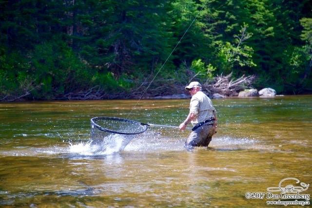 Salmon Lodge Larry Dee put one in the net, good job Larry!