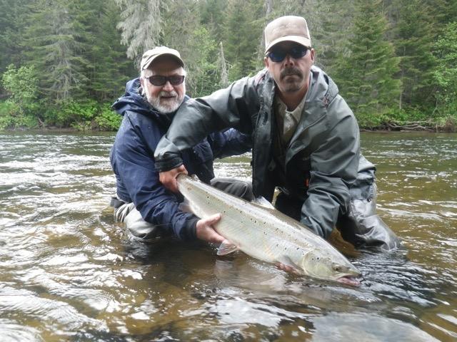 Salmon Lodge regular Don Piktalias with his first ofd the season, Nice one Don!