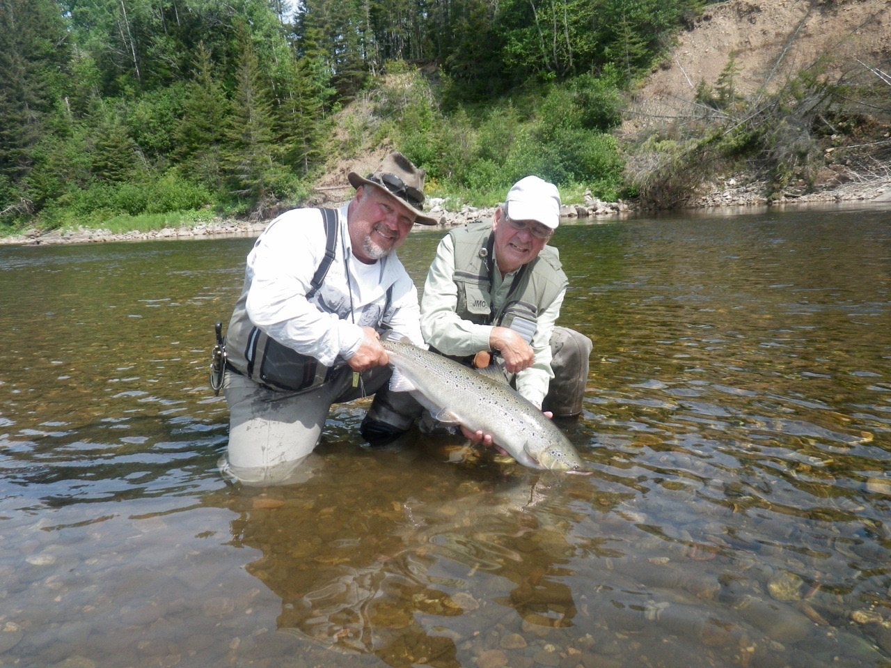 Phillip Hasson from France with his first Atlantic salmon, congratulations Phillip!