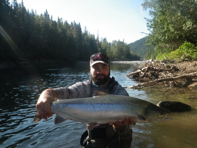 Marc Andre Bourdon landed this fine salmon on the Bonaventure, Nice one Marc, Congratulations!