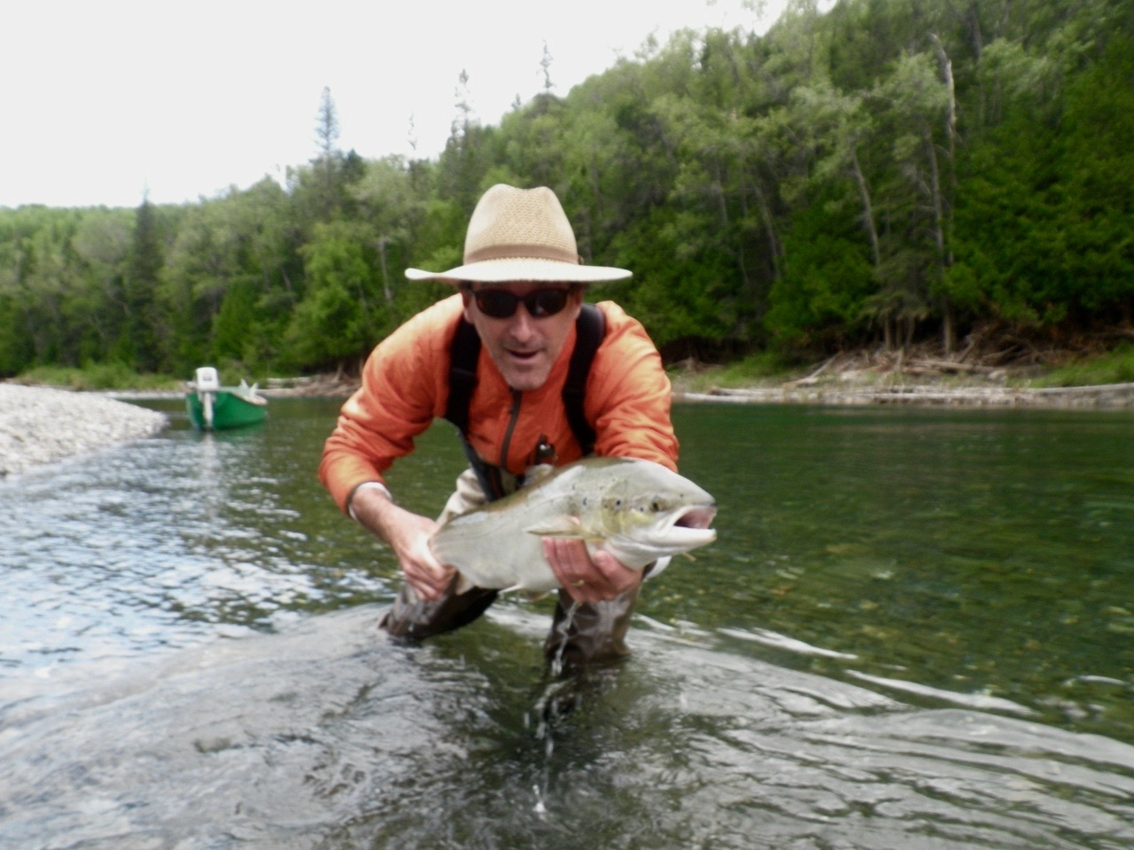 Patrice Vezina with his first of the season on Bonaventure, way to go Pat! see you again in a couple of weeks.