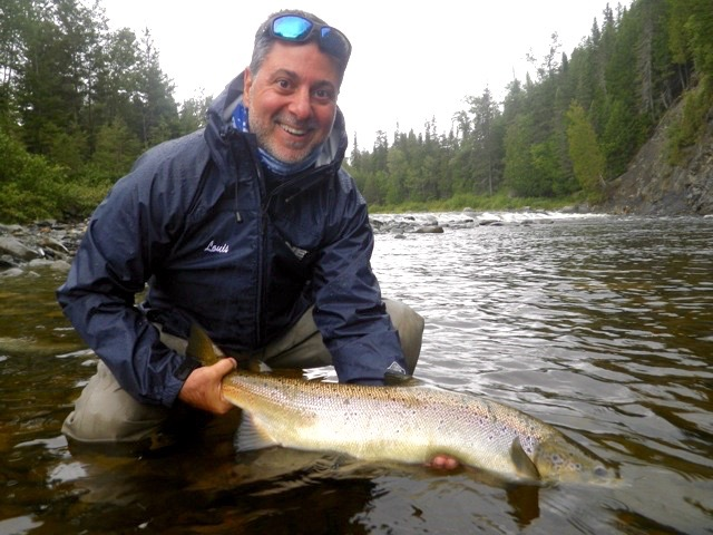 Louis Esposito with his first Atlantic salmon, congratulations Louis, hopefully the first of many.