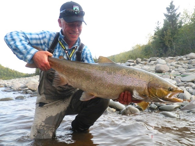 Thomas Mahanke has been coming to Salmon Lodge for many years, he' not only a great guy but also a wonderful angler! nice one Thomas!