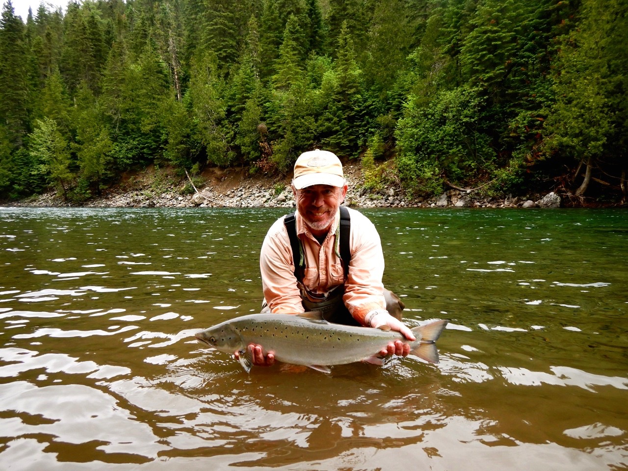 Long time Salmon Lodge guest John Pearson, a great guy and angler, nice one John!