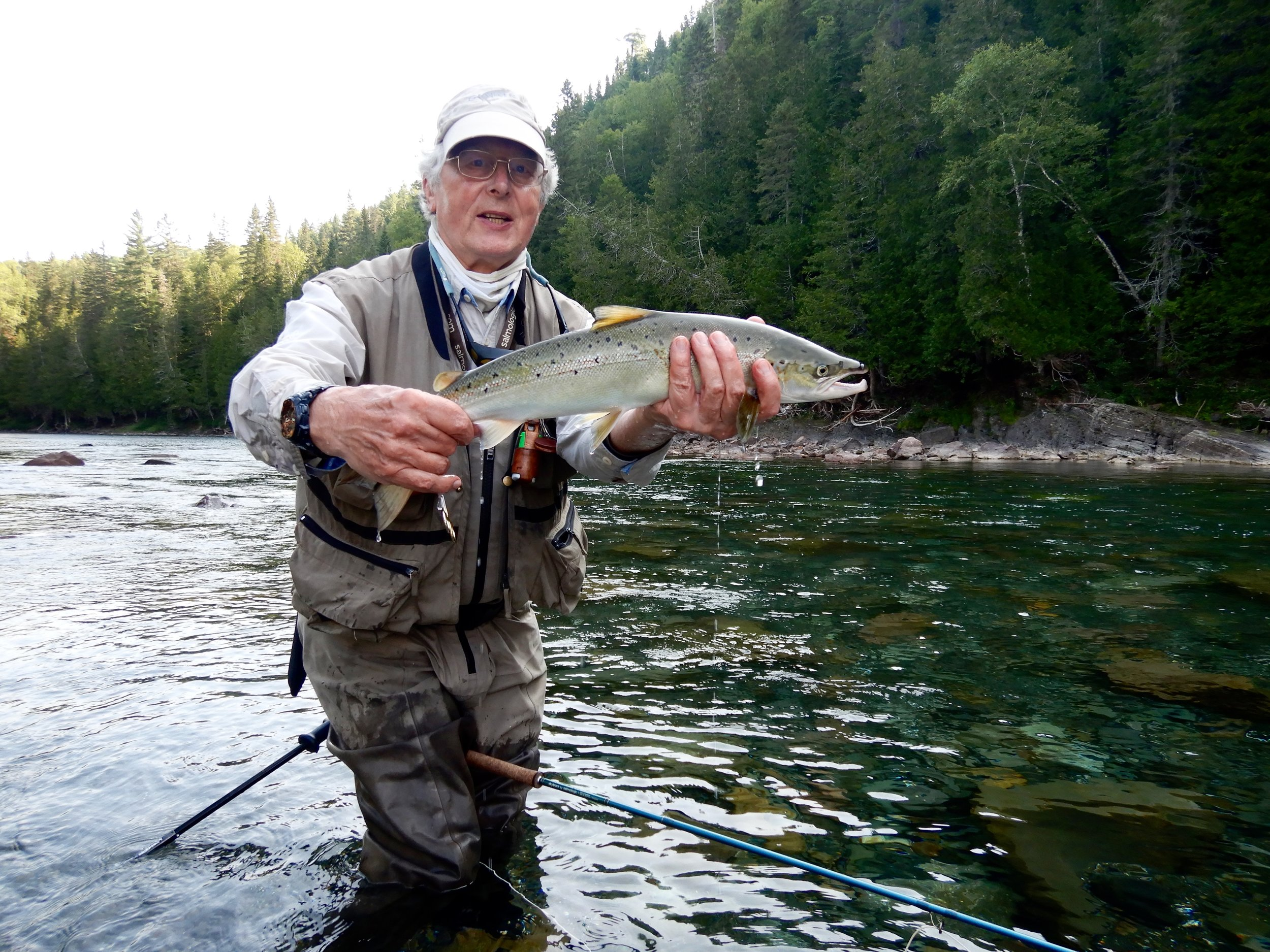 Tim Ingram is no stranger to Salmon Lodge or salmon fishing, nice start to the week. Well done Tim.