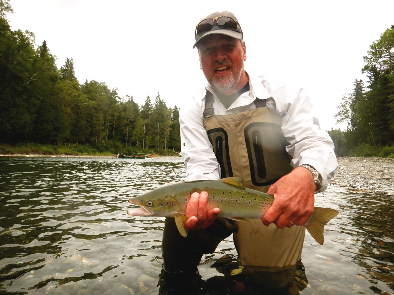 Don Michel landed this nice grilse on the Bonaventure, congratulations Don!