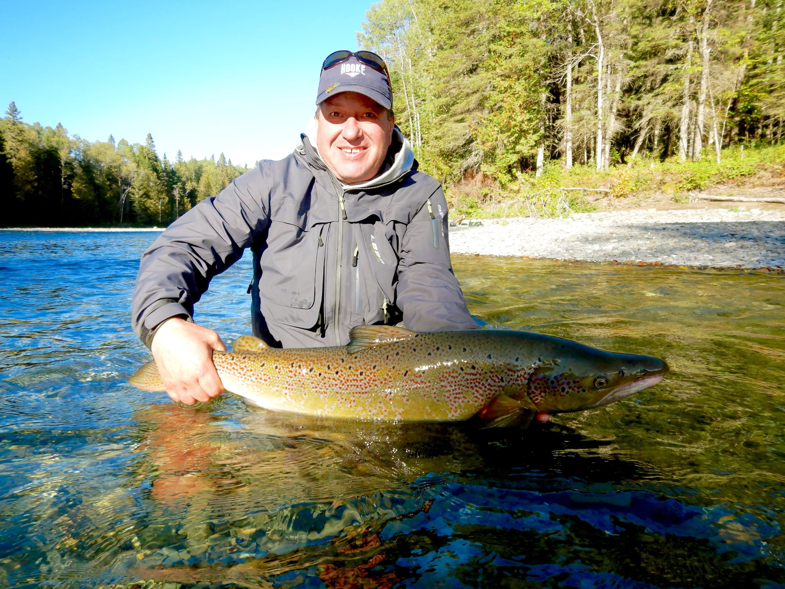 This was Steve Bujold's first trip to Salmon Lodge, not his last, see you next year Steve, congratulations !