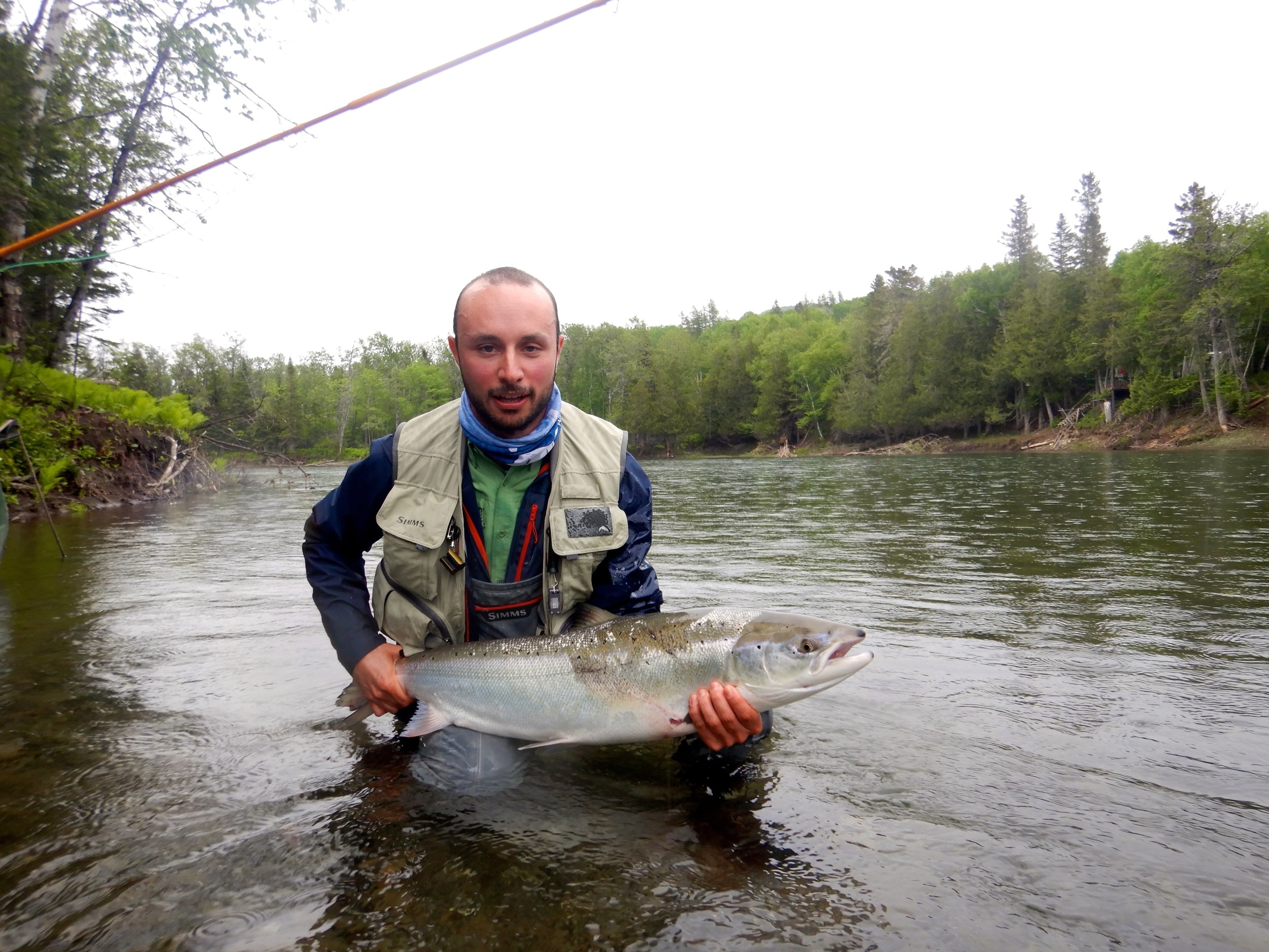 Filippo Battino came all the way from Italy to catch his first Grand Cascapedia salmon, way to go Filippo !