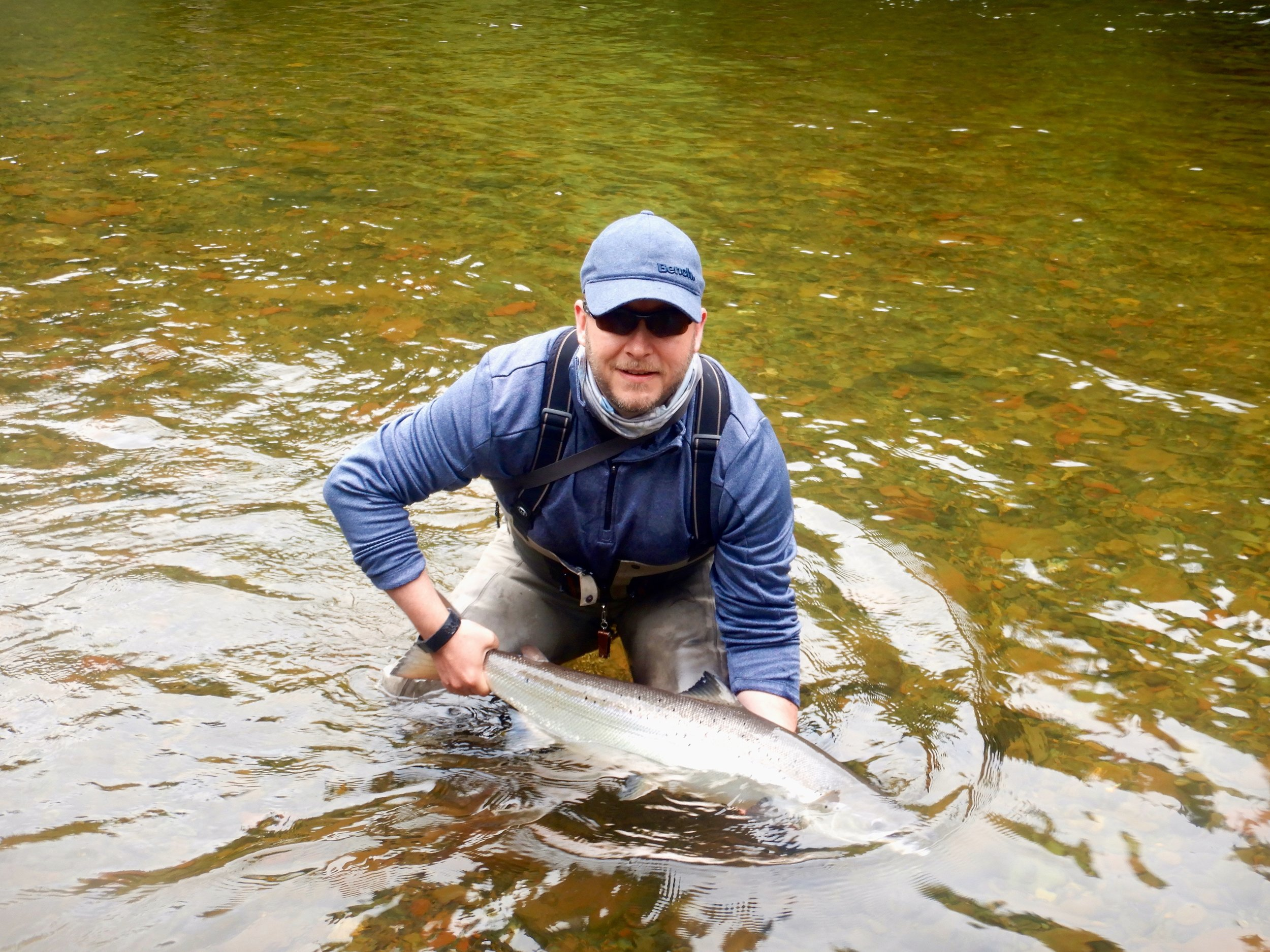 T his was Steve Osbourne's first trip to Salmon Lodge, he already booked for next year! Well done Steve.