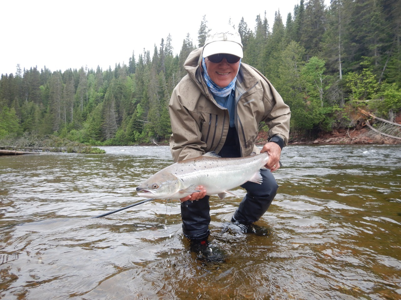 Salmon Lodge regular Curt Hamilton with yet another for the books, great fishing Kurt, well done!