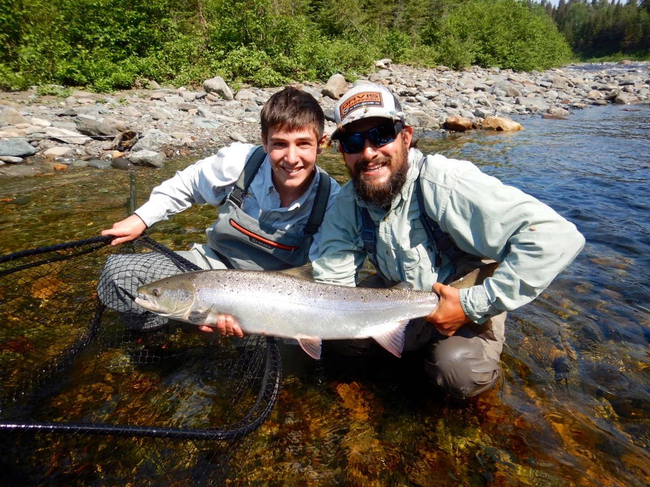 Jerome Letourneau is quickly becoming a great salmon angler, this is his second season at Salmon Lodge and he keeps getting better and better, congratulations Jerome!
