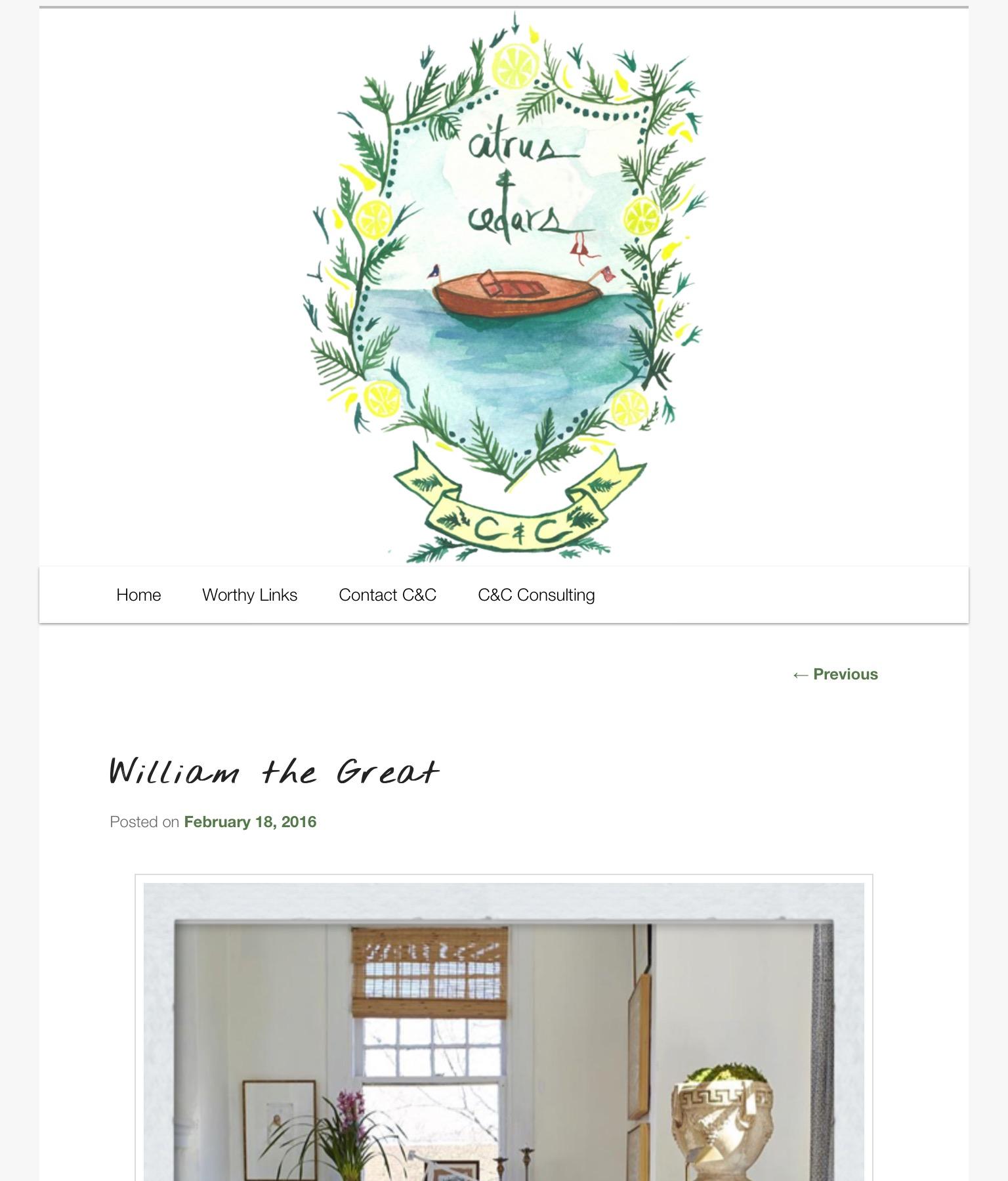 Cedar & Citrus- William the great